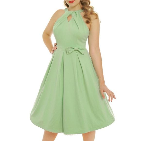 e947b5056eb2 Lindy Bop Dresses   Green Cherel Retro Swing Dress   Poshmark